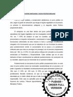 DISTINCIÓN ENTRE ANTEJUICIO Y JUICIO POLÍTICO (BOLIVIA)