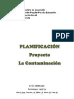 PLANIFICACION de la contaminación