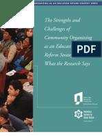 Community Organizing as an Education Reform Strategy