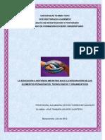 ENSAYO MODELOS DE LA EDUCACIÓN A DISTANCIA
