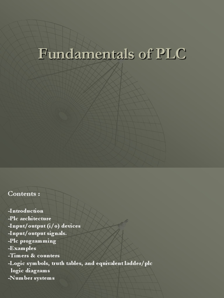 Fundamentals Of Plc Final Programmable Logic Controller Relay Ladder Diagram Examples