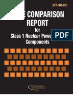 Publicacion STP-NU-051 - Code Comparison Report for Class 1 Nuclear Power Plant Components