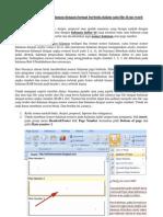 Cara Menggabungkan Halaman Di MS Word 2007 Dan 2010