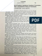 Fayette County - Goodspeed's History of Tennessee