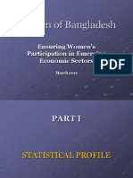 Women of Bangladesh Employment Power Point March 2011