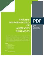 Análisis Microbiológico de Alimentos Orgánicos