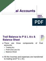 805 CC101 AFM DD 1 Trial Balance to P&L & Balance Sheet