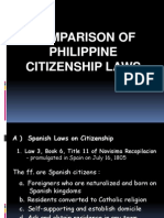 Cnl Comparison of Philippines Citizenship Laws Report