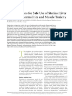 Considerations for Safe Use of Statins