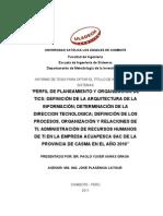 Tesis de Nivel y planeamiento y organizacion de las TICS