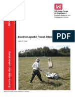 Electromagnetic Power Attenuation in Soils
