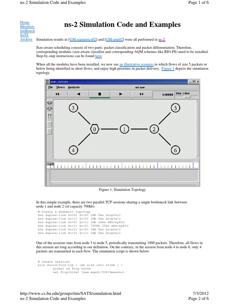 Ns2 Code For Creating Nodes