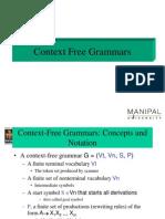 Context Free Grammer