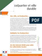 Eco-Quartiers & Villes Durables _plaquette FR2008
