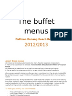 Buffet Menus 2012 & 2013 Danang Vietnam