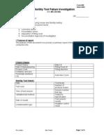 Sterility Test Failure Investigation Form