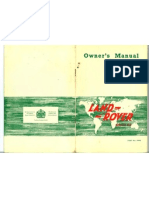 Land Rover Series 2A Owner's Manual