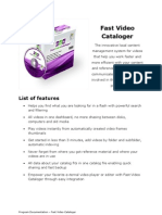 Fast Video Cataloger Documentation