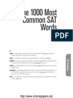 SAT ENglish the 1000 Most Common Words