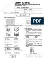 7th Grade - Physics Final Exam I - State of Matters 1112