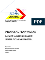 Sample Proposal Program Pengembangan SDM Guru SD
