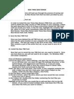 TNR Font Install Instruct