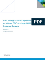 XenApp on ESX Case Study 29 June 2010