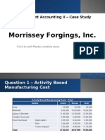 MANAC II - Morrissey Forgings Case