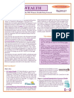WEALTH - WIN Women's Health Policy Newsletter, July/August 2012