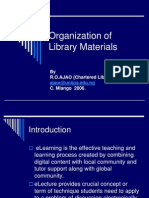 Organization of Library Materials