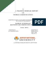Megha Training Report mobile communication