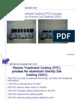 Aluminum Gravity Die Casting Cost Reducing PTC Stirring Process