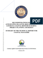 Anticipated Sea-Level Rise Coastal Louisiana Summary (2012)