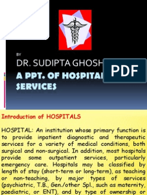PPT of Hospital Service   Health Care   Public Health