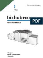Bizhub PRO 920 Operator Manual