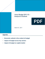 Union Budget Analysis 2011-12