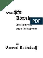 Ludendorff, Erich - Deutsche Abwehr - Antisemitismus Gegen Antigojismus (1934, 16 S., Scan, Fraktur)