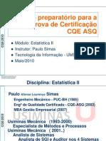 Apresentação CQE2010-EST-II-SP