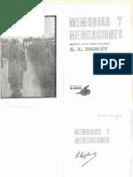 Memorias y Meditaciones. G.K. Zhukov