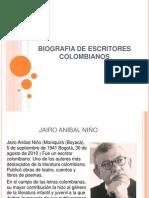 Biografia de Escritores Colombianos