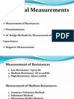 I) Measurement of Resistance