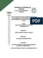 EVALUACIÓN DE VIGAS DE CONCRETO REFORZADO BAJO AMBIENTE SALINO MEDIANTE LA TECNICA ELECTROQUÍMICA DE POTENCIALES DE CORROSIÓN (Ecorr).