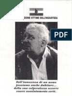 Lettera Di Pietro Pacciani All'Associazione Vittime Dell'Ingiustizia