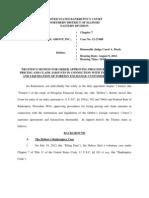 PFG Bankruptcy Case Docs