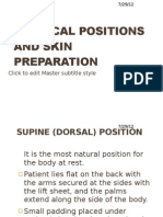 Surgical Positions and Skin Preparation