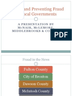 Finding and Preventing Fraud in Local Governments