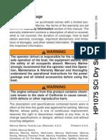 Mercury Racing Hp1075 Sci Engine Owners Manual
