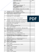 Sales Table of Contents Digest WITH Table