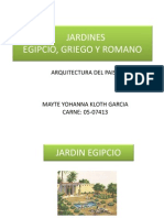 Jardines, Egip, Grieg, Rom