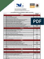 CALENDARIO ESCOLAR 2012-1
